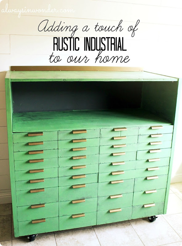 Rustic Industrial Storage makeover by Alwaysinwonder