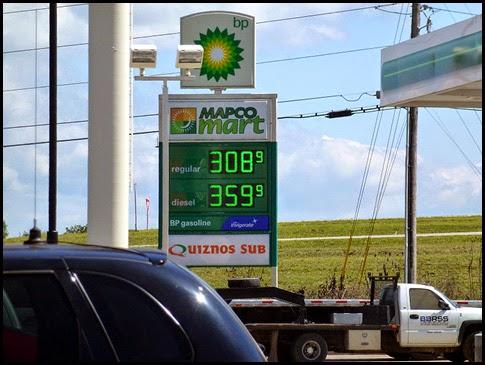 04 - I-24, exit 155 easy Diesel & Gas BP - Cheapest so far