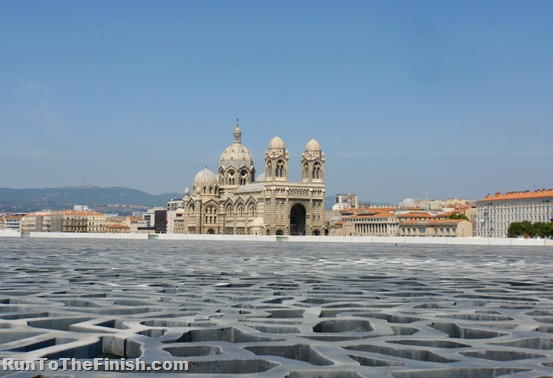 View of Cathedral from MuCem Marseille