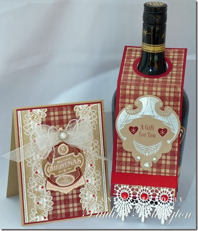 bottle and card
