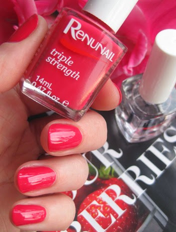 DrLewinns-Renunail-colour-nail-polish-Pomegranate-red-swatches