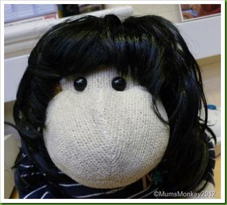 Monkey in a wig