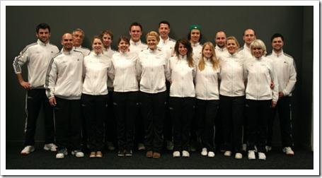 Jugadores y jugadoras seleccion alemana de pádel en Estepona 2012.