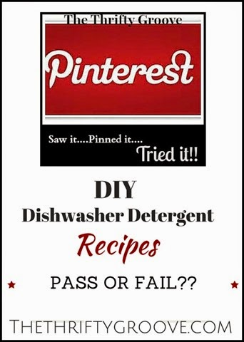 DIY Dishwasher Detergent Recipes. The Results!  @ TheThriftyGroove.com