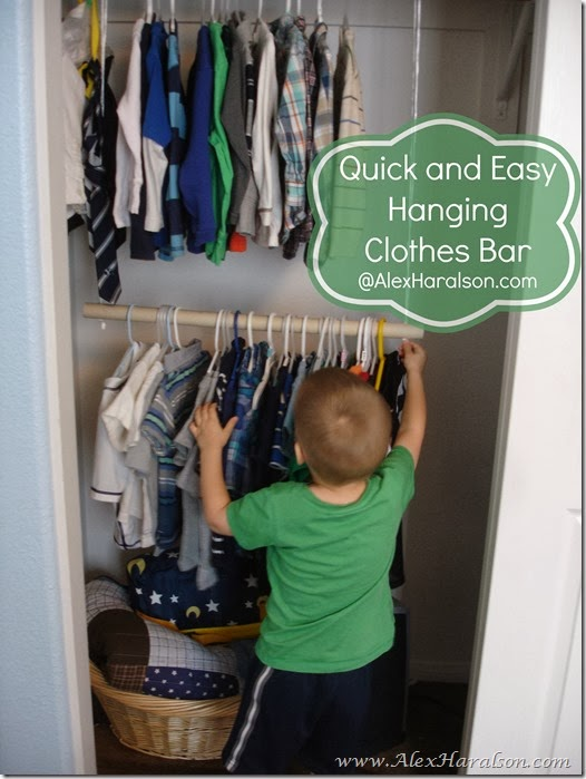 Easy Kids Closet Organization8-2