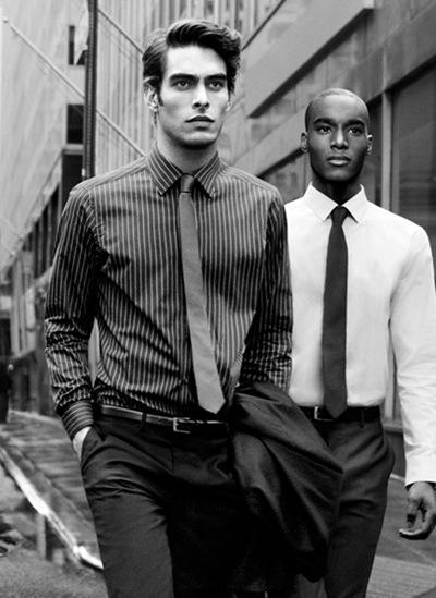 Jon Kortajarena + Corey Baptiste by Inez & Vinoodh for DKNY F/W 2011-12 campaign (detail)
