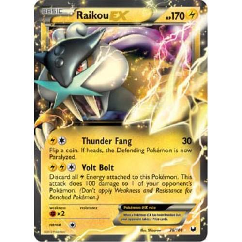 Pokemon Cards Raikou Raikou Card ex Raikou ex Card