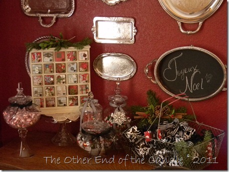 Silver Tray Chalkboard for Christmas