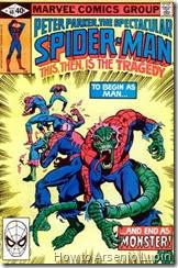 The spectaculas spider-man #40, ahora es spider-lizard quien necesita ser salvado.