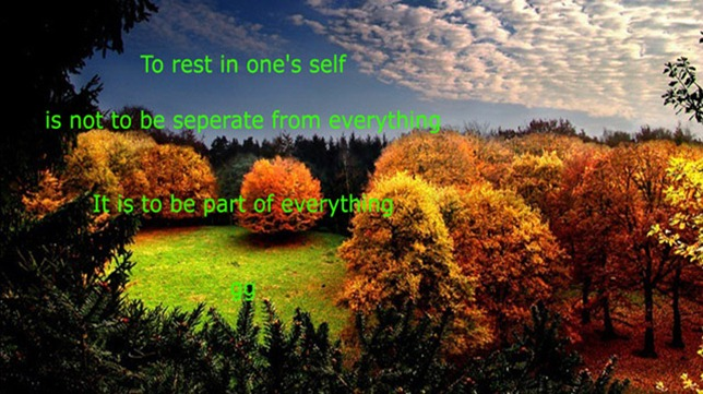 rest in oneself
