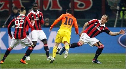 Barcelona enfrenta al AC Milán