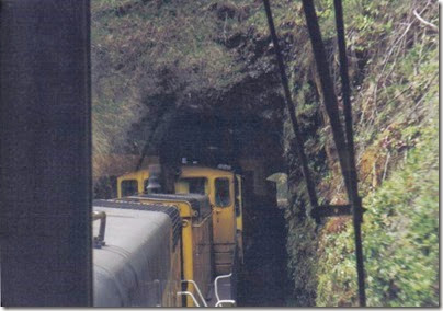 Ostrander Tunnel on the Weyerhaeuser Woods Railroad (WTCX) on May 17, 2005