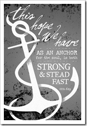 This hope we have is an anchor