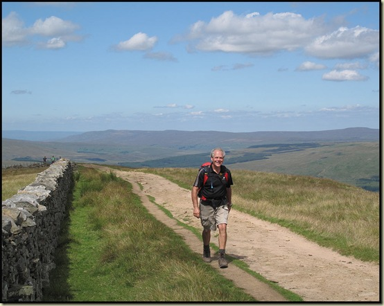 Roger makes it to the summit of Whernside