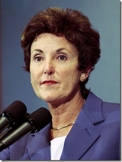<i>SI Neg. 2001-12304.17. Date: 10/17/2001.</i><br /><br />Jane Garvey, Federal Aviation Administration (FAA) Administrator, speaking at the National Press Club on the state of aviation following the 9/11/01 terrorist attacks. <br /><br />Credit: Jim Wallace (Smithsonian Institution)
