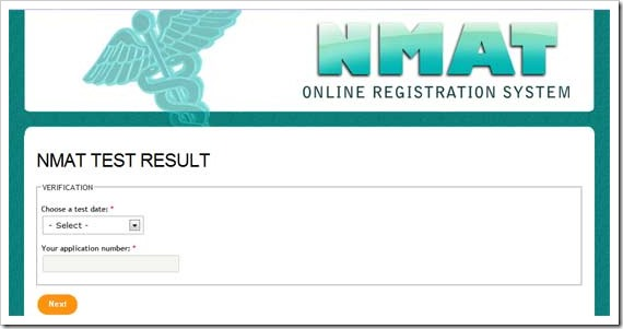 NMAT results April 2013