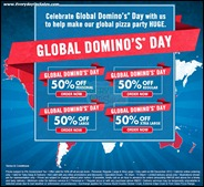 Global Domino's Day Half Price Promotion Branded Shopping Save Money EverydayOnSales