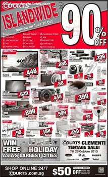 Courts Islandwide Holiday Sale 2013 Singapore Deals Offer Shopping EverydayOnSales