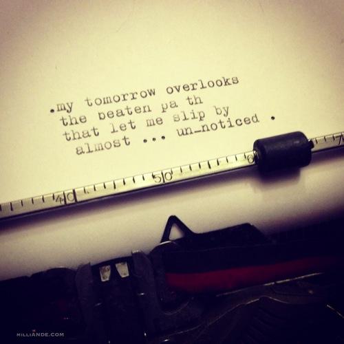 Typewriter spills poetic glimpses milliande 6