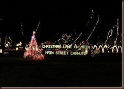 Christmas Lane On Main in Chanute