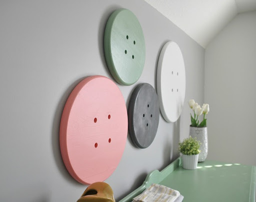 Button Wall Art For Craft Room
