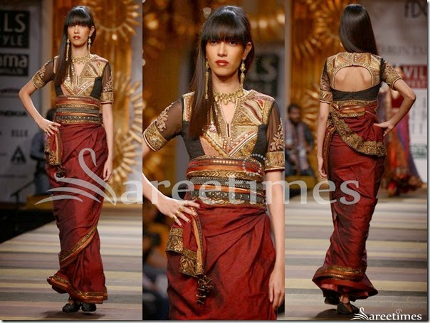 Tarun_Tahiliani_Brown_Saree
