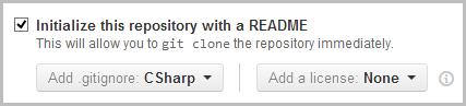 Adding a .gitignore for CSharp in GitHub