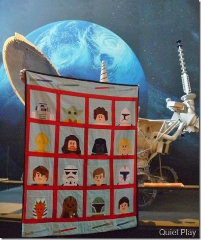 LEGO Star Wars quilt gets spacey