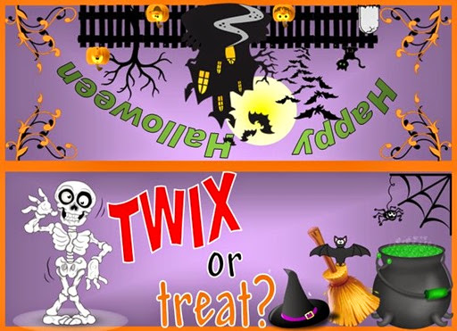 Twix or Treat Halloween Snack Bag Topper