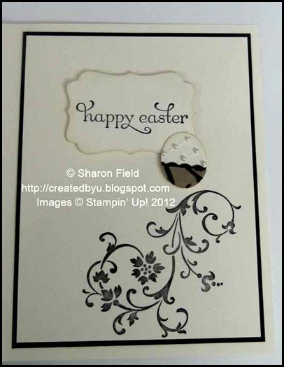 add swirl image stamped and layers place inside card
