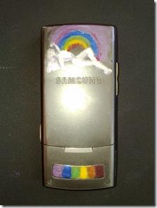 Telefon mobil Samsung SGH-G600 pictat cu oja