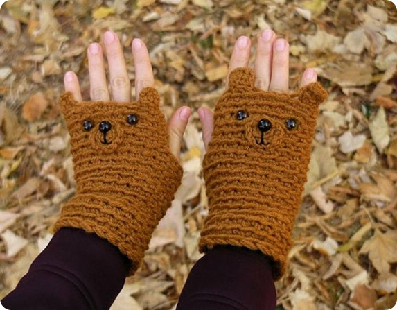 etsy fingerless-gloves-bear-original-design