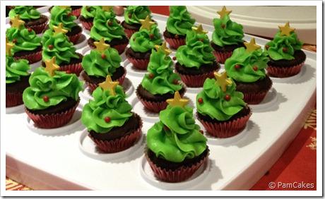 Bosquecillo de mini cupcakes