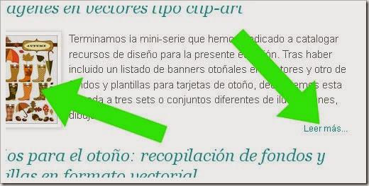 Aplicación de un script para implementar texto resumen con imagen en miniatura en la portada de un blog de Blogger.