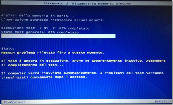 Strumento di diagnostica della memoria RAM di Windows
