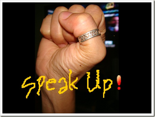 SPEAK UP in 2012!