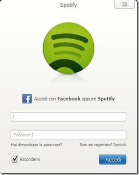 Spotify accesso/registrazione