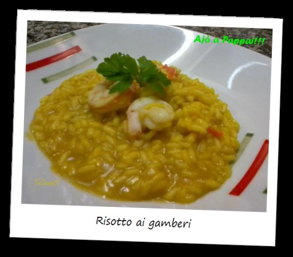 Fotografia del piatto risotto ai gamberi