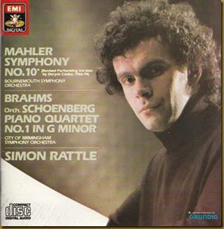 Rattle Mahler 10 Bournemouth