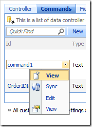 View context menu option in the Project Browser.