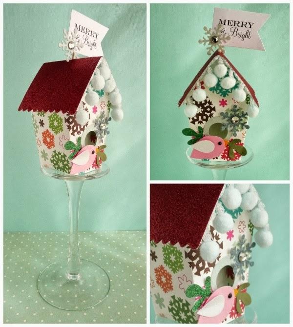 cafe creativo - sizzix big shot - birdhouse - holidays - christmas
