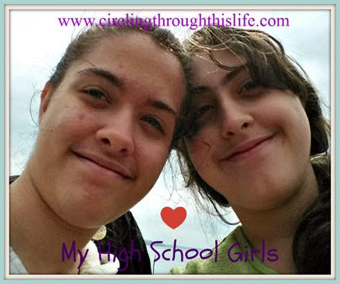 My high school girls ~ Planning their high school courses