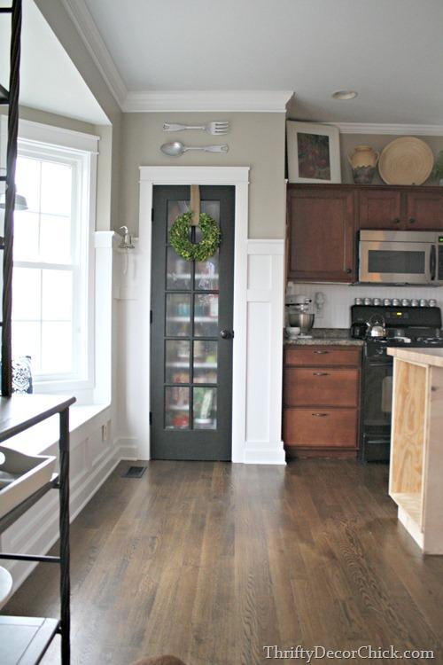 glass door on pantry