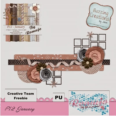 Romajo - P12 January - Cluster Freebie by Jenn