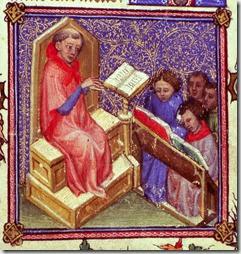 Le cours de theologie XIV e s. Avignon, BM, ms 6733 f ° 56