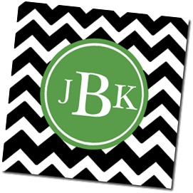 Chevron Coaster_Black and Grass_JBK