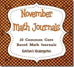 November Math Journals