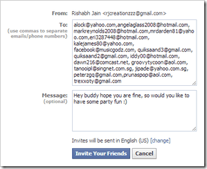how to send friend request on facebook through email