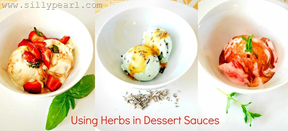 Using Herbs in Dessert Sauces with TCBY Frozen Yogurt