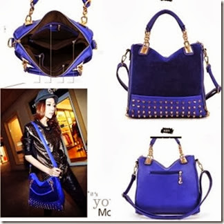 U8007 Blue (190.000) - PU Leather, 32 x 25 x 11